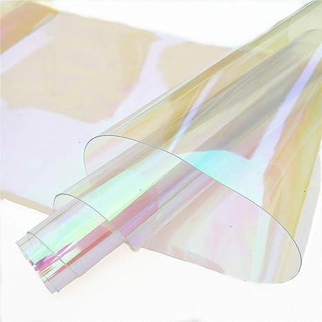 Transparent PVC Vinyl Holographic PVC Fabric DIY Craft Making Accessories