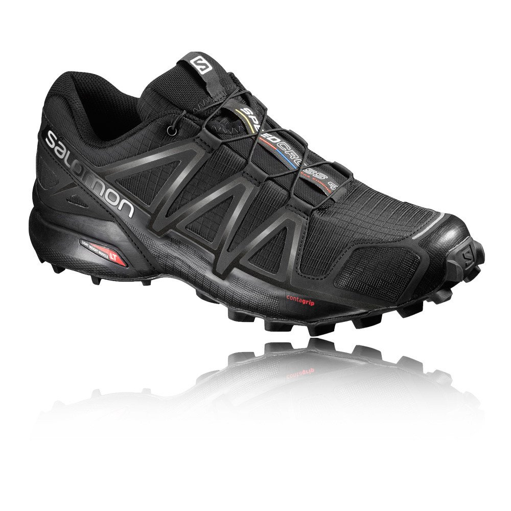 Salomon Herren Speedcross 4 Traillaufschuhe  41 1/3 EU|Black/Black/Black Metallic