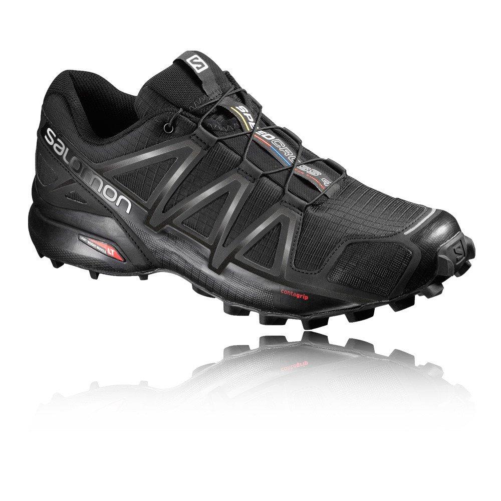 Salomon Herren Speedcross 4 Traillaufschuhe  42 2/3 EU|Black/Black/Black Metallic