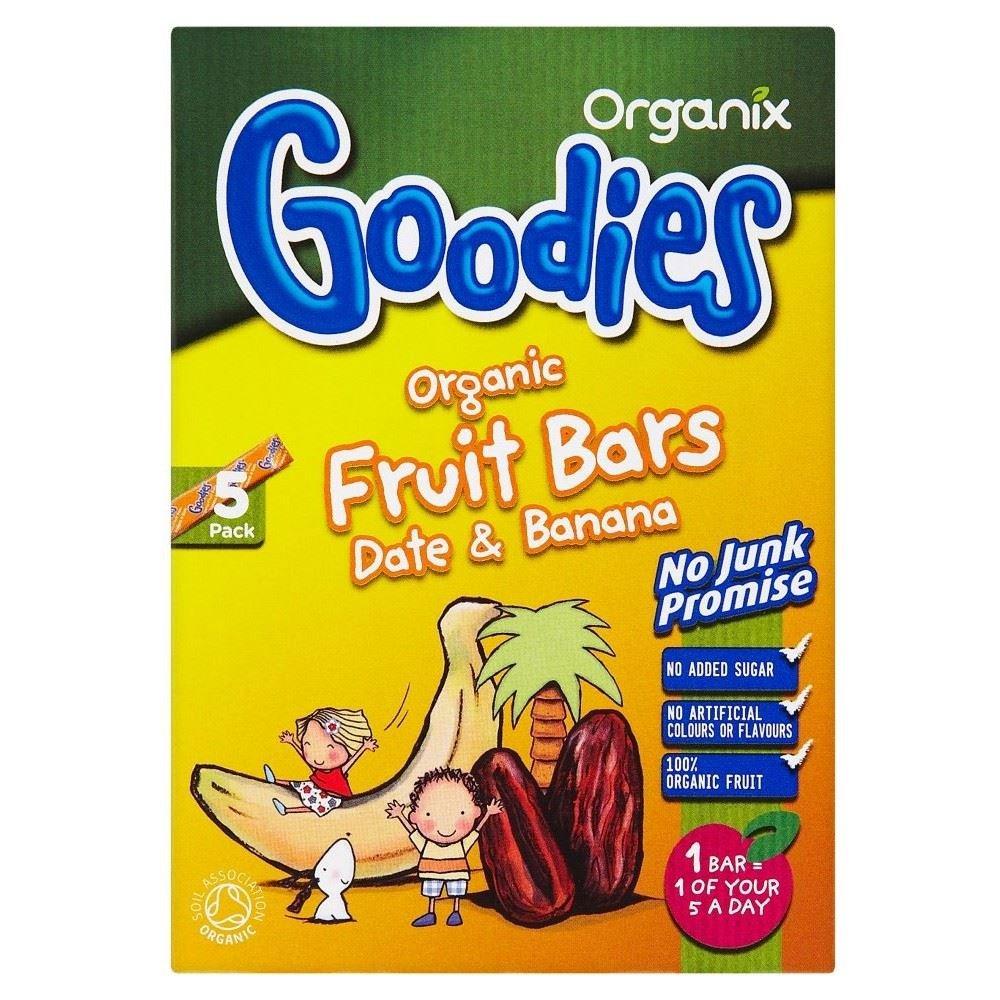 Organix Goodies Organic Fruit Bars - Banana & Date 12mth+ (5x15g)