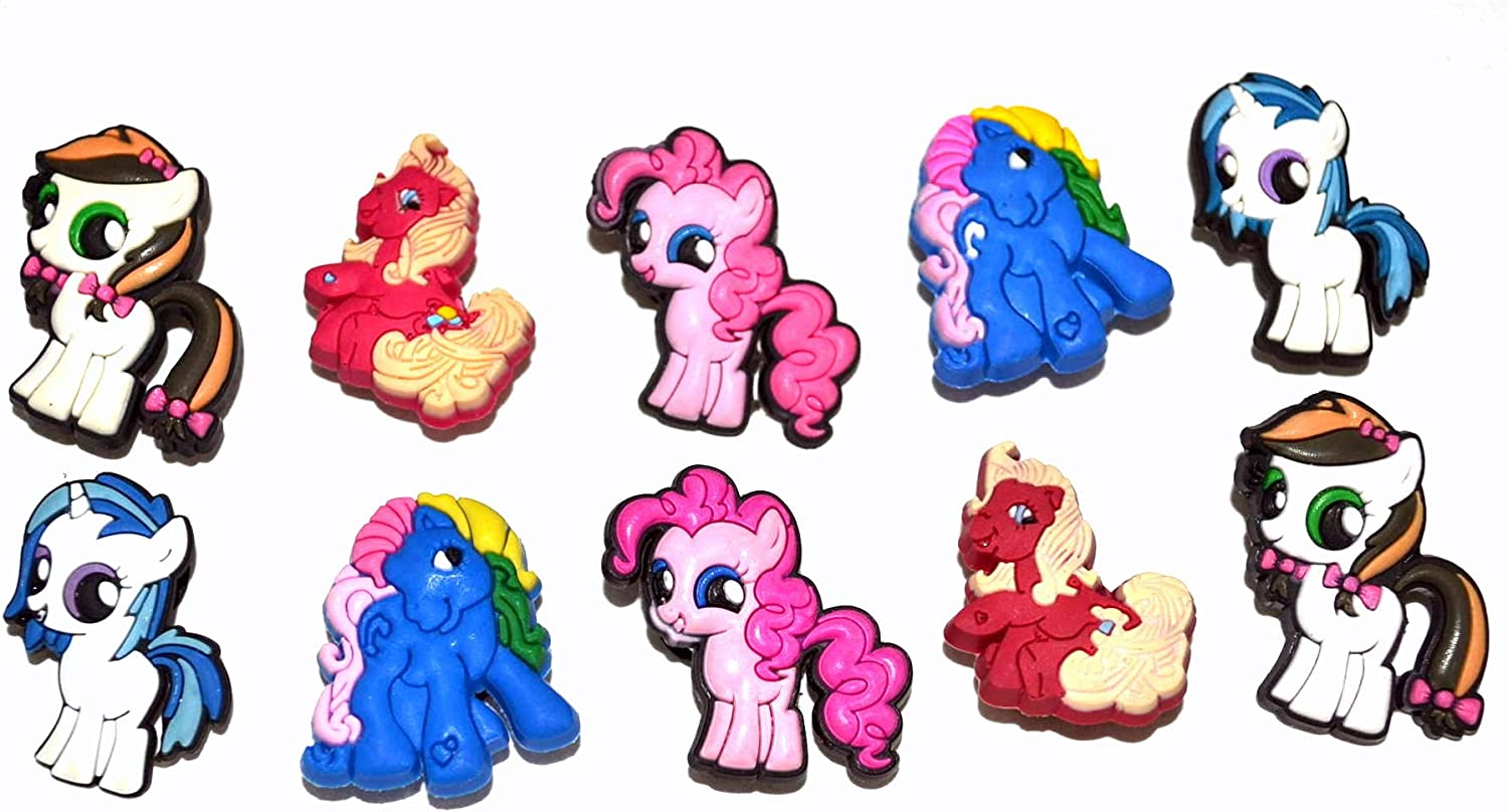 10 My Little Pony Shoe Charms for