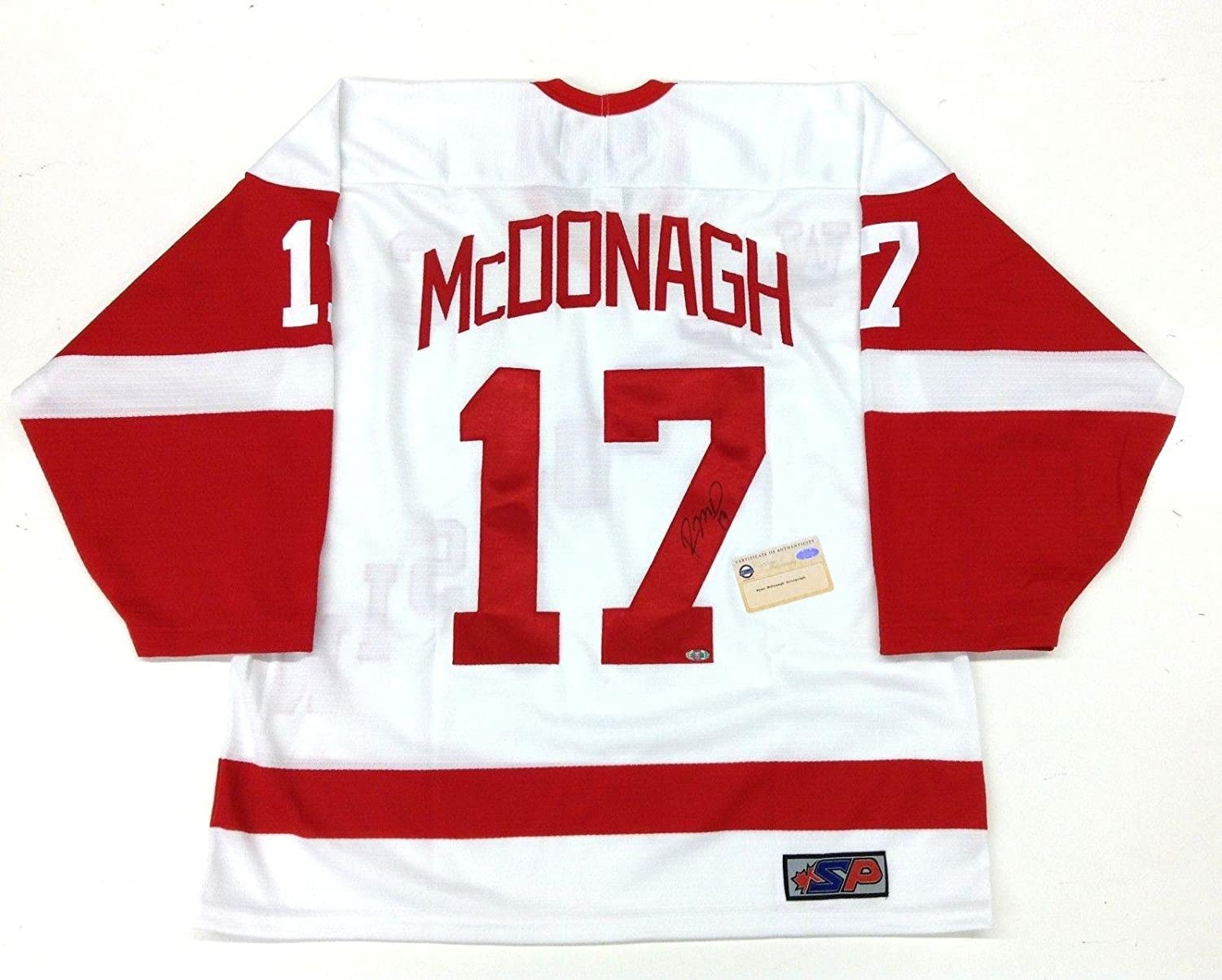 separation shoes 1ae8d ff44c Signed Ryan McDonagh Jersey - WISCONSIN BADGERS COA ...