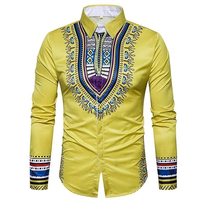 Camisa de Estilo Africano, Covermason Blusa de Moda Estilo Desierto con Estampado