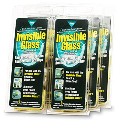 Invisible Glass 6 Pack 95183-6PK Reach and Clean Tool Replacement Bonnets (3-Pack) -Case of 6, 6 Pack: Automotive