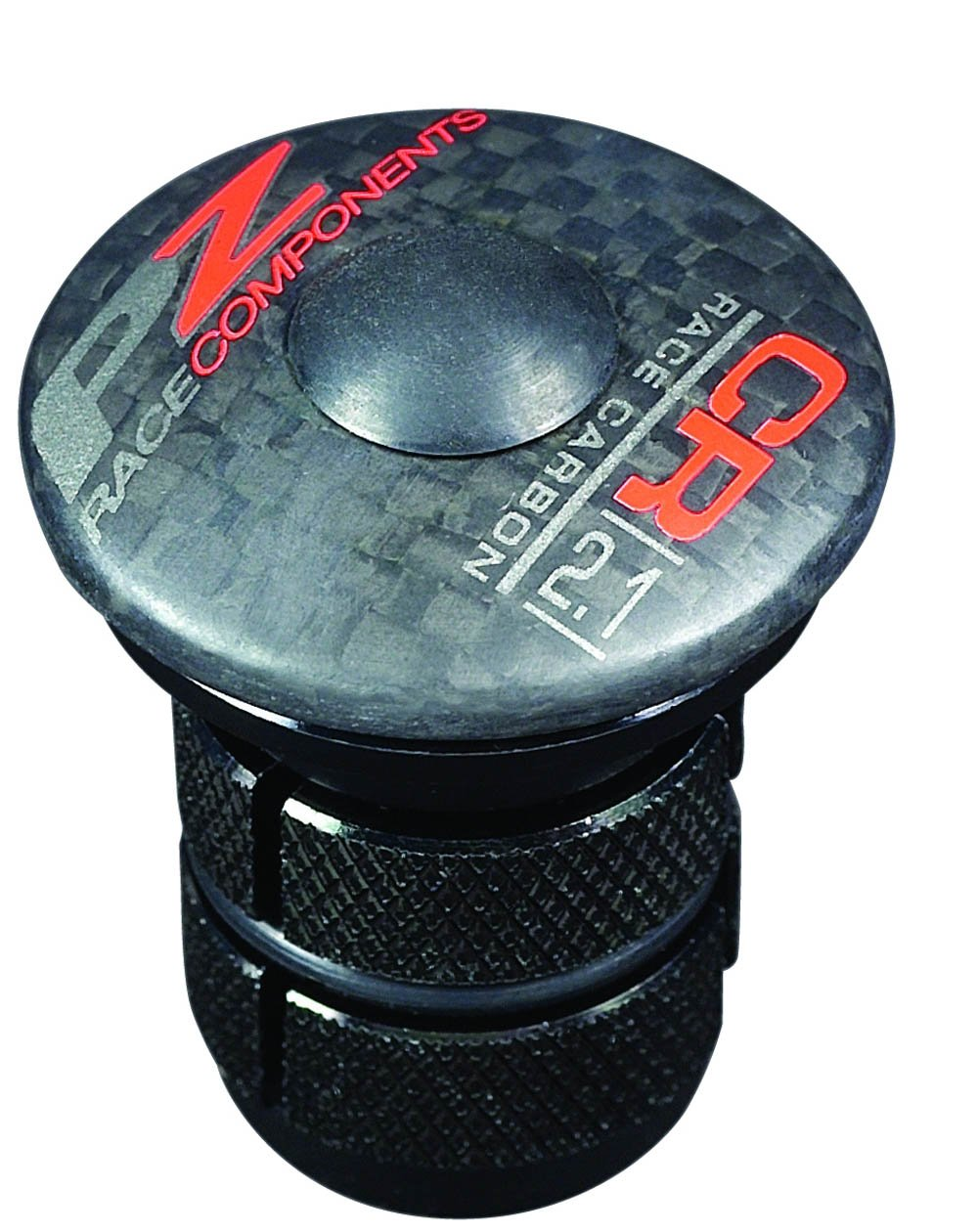 PZ Racing CR2.1A Alloy Cap, Carbon Shiny Black