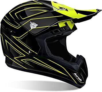 Airoh Casco Mx Switch Spacer Amarillo (L, Negro)