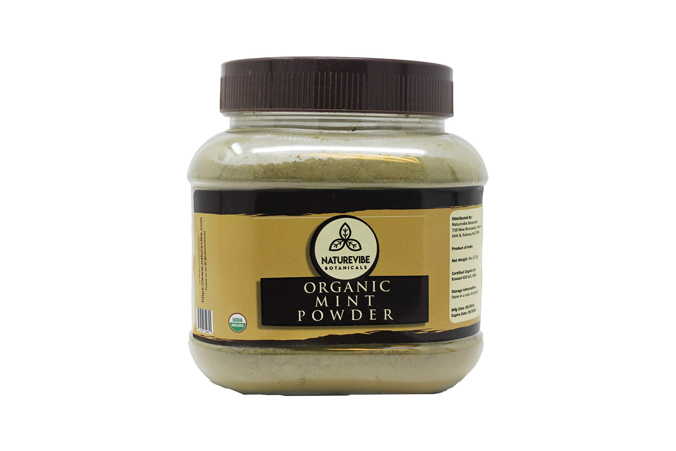 Organic Mint Powder (8oz) by Naturevibe Botanicals