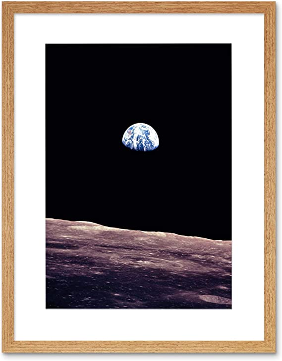SPACEPLANET EARTH LUNAR SURFACE MOON LANDSCAPE COOL USA Poster Photograph