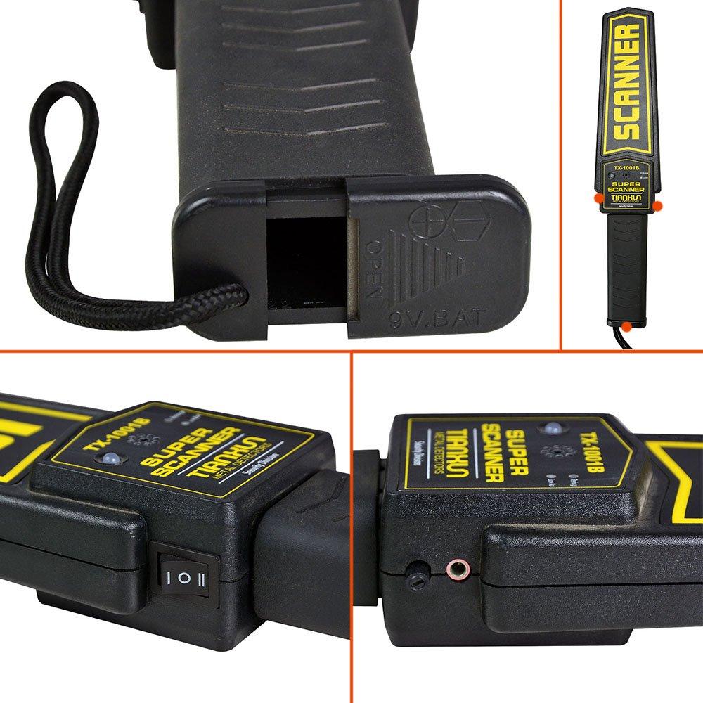 MENGS® Súper de mano del detector de metales de Seguridad y escáner con alarma / vibración Verano LED en la búsqueda de armas ofensivas, aeropuerto y la ...