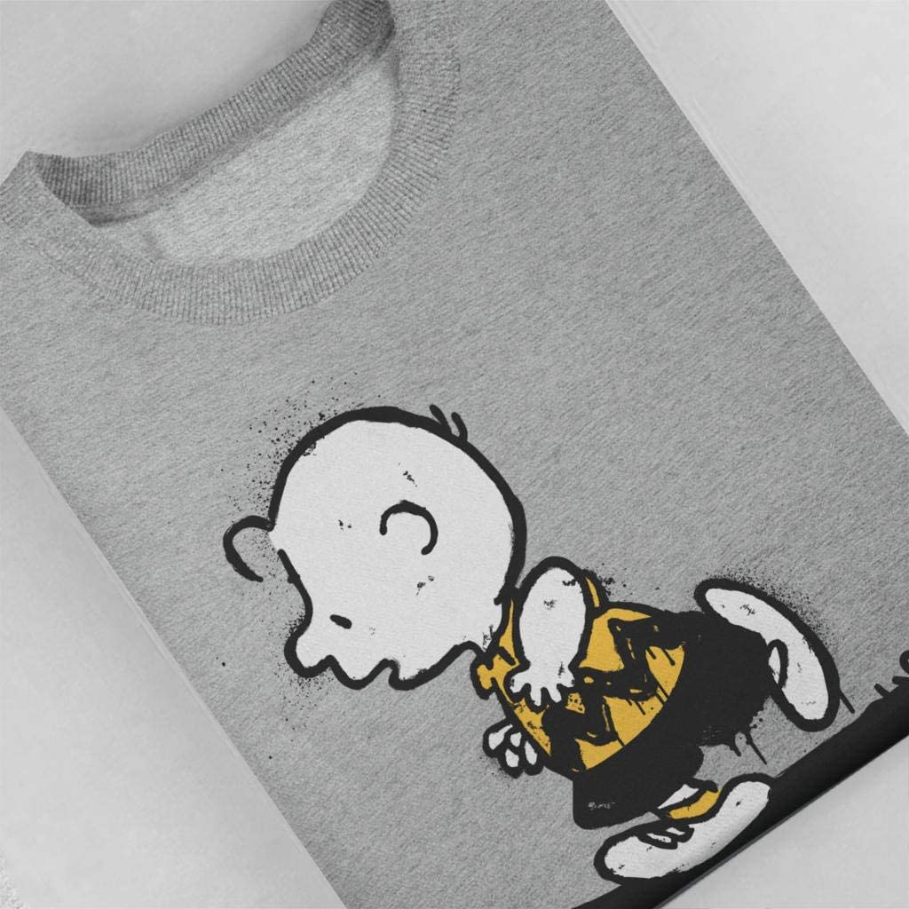 Peanuts Skateboard Snoopy Graffiti Mens Hooded Sweatshirt