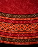"""Calico Print Round Cotton Tablecloth 72"""" Red"""