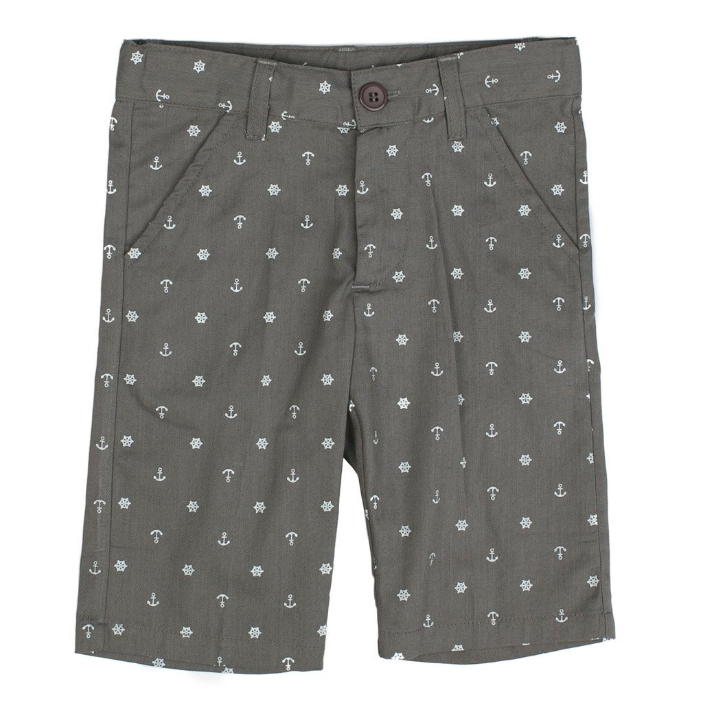 6 Years Taupe Piccino Piccina Boy Short Spring Pants