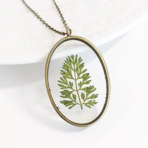 Terrarium Necklace Terrarium Jewelry Flax plant seed necklace Herbarium Botanical Necklace Pressed Flowers necklace Dried Flowers