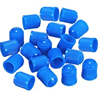 Outus 20 Pack Tyre Valve Dust Caps for Car, Motorbike, Trucks, Bike, Bicycle Blue Outus-Valve Caps-01