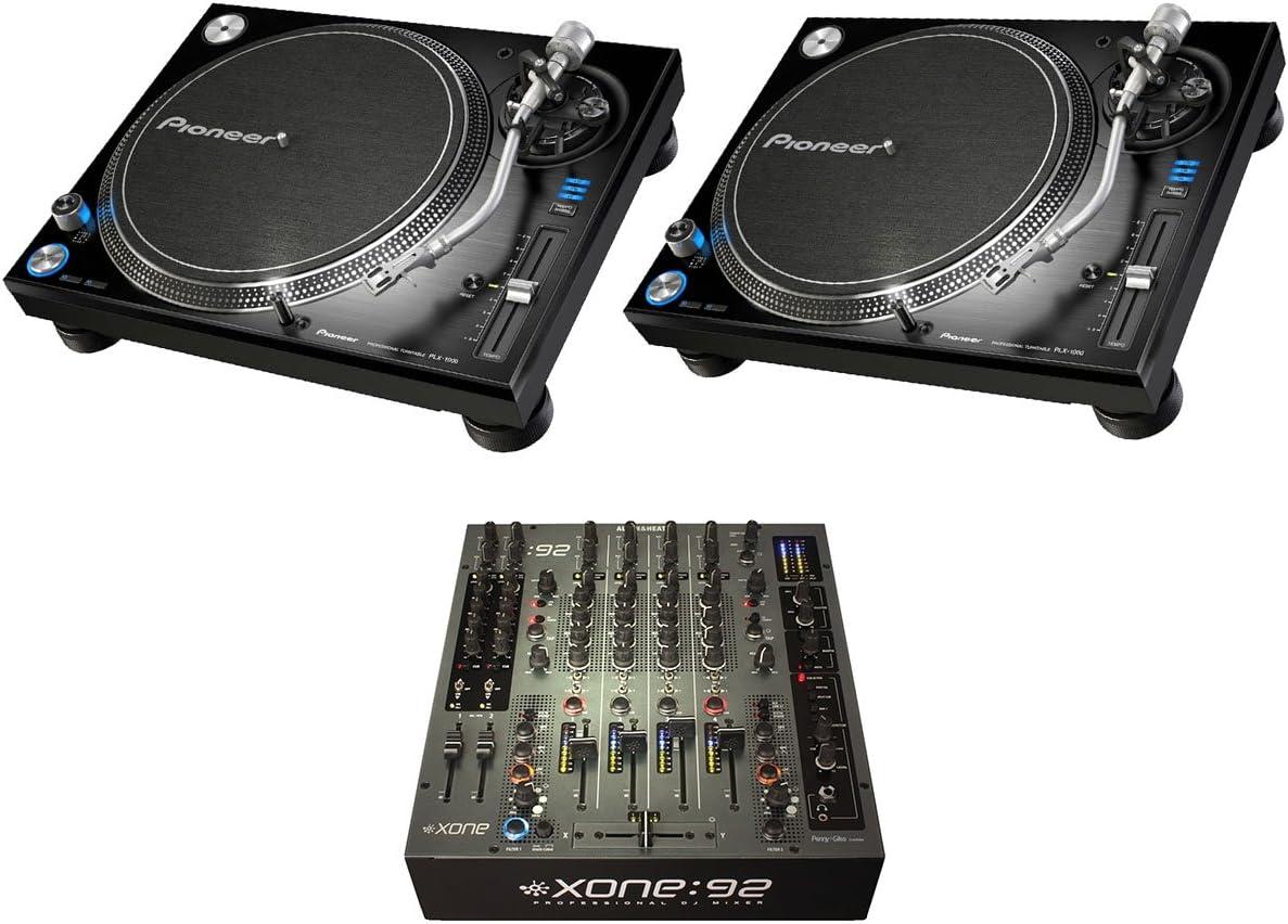 Amazon.com: 2 x Pioneer plx-1000 + XONE: 92 Fader: Musical ...