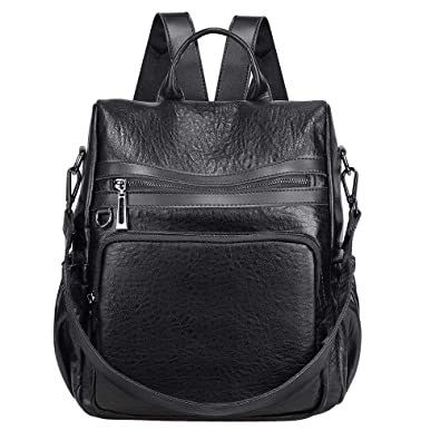 86474e8a5d9 Amazon.com: SAMSHOWME Lightweight Women PU Leather Backpack Shoulder ...