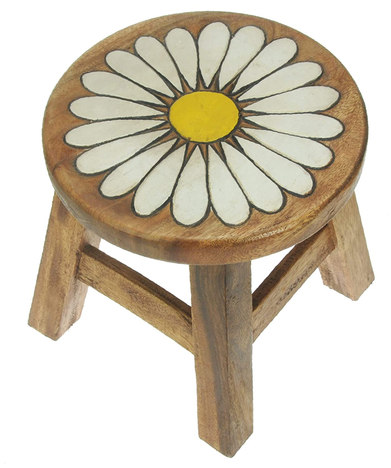Namesakes Childrens Wooden stool - Flower - Fun for kids - Handcrafted from Wood - Present for Boys or Girls All My Gift Ideas