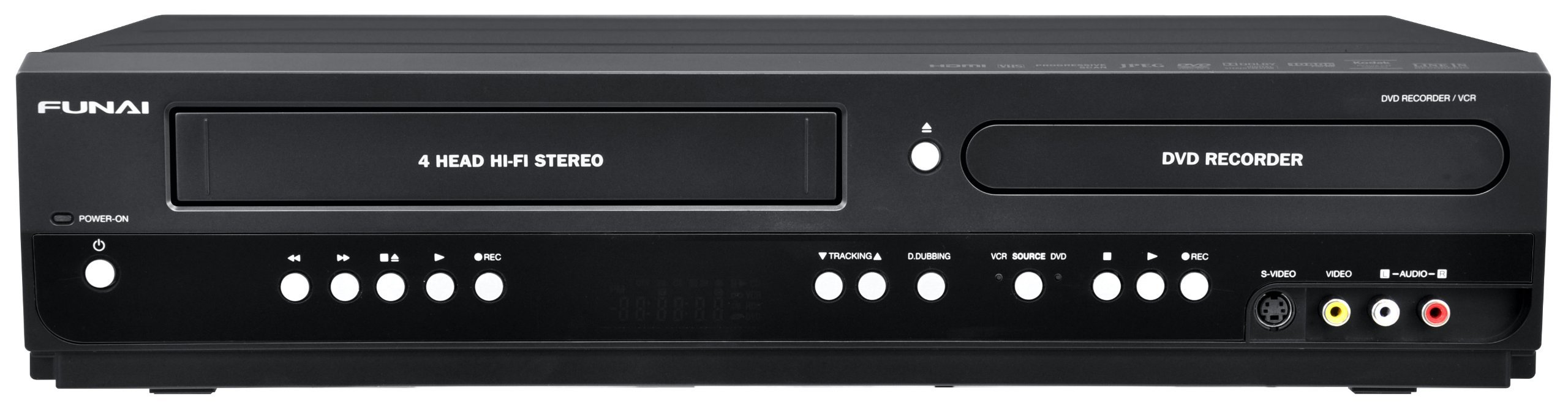 Funai Combination VCR and DVD Recorder (ZV427FX4) (Renewed)