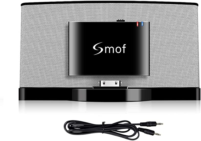 iPod Bluetooth Adapter to Bose Sounddock Smof Premium 30 Pin Bluetooth Adapter for Bose Bluetooth Audio AUX Output Receiver