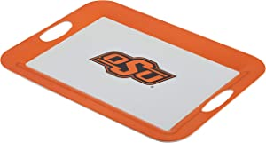College Kitchen Collection Oklahoma State University Serving Tray / Party Platter / Food Appetizer Serveware - 12.5 Inch, White