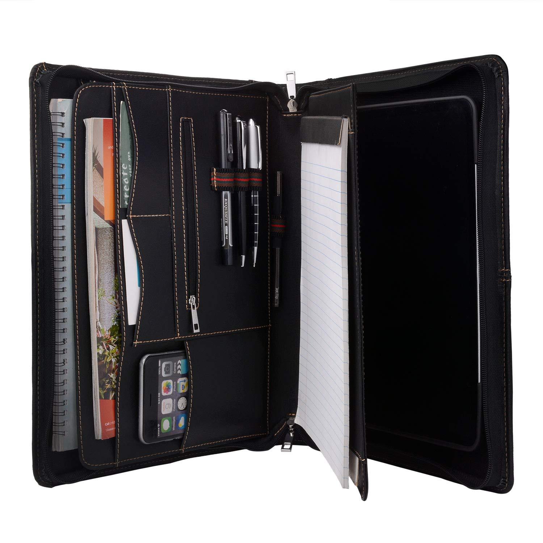 取り外し可能なタブレットホルダー付きジッパーレザーポートフォリオ、Padfolioタブレットケーススタンド付き12.9インチ iPad Pro (2018)用 B07PKL87R9 iPad Pro 10.5-inch  iPad Pro 10.5-inch