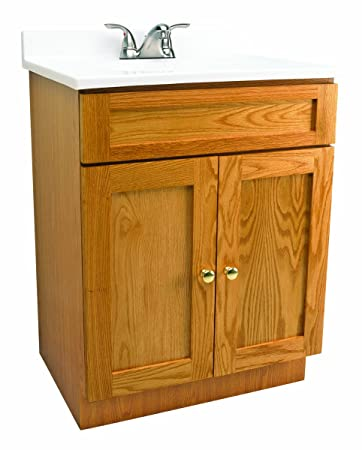 Good Design House 541649 Vanity Combo Oak Vanity Bathroom Cabinet With 2 Doors,  31