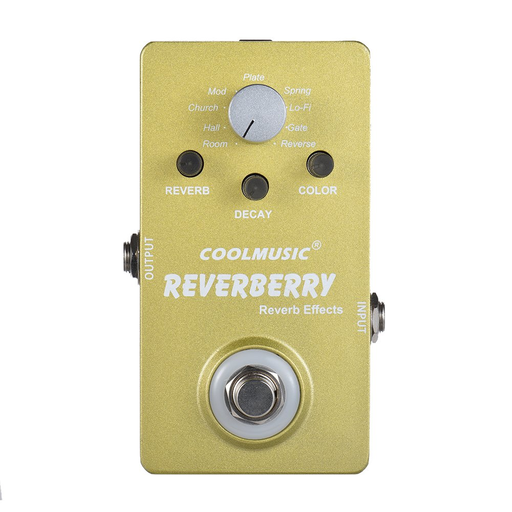 ammoon Electric Guitar Digital Reverb Effect Pedal with 9 Reverb Effects True Bypass Full Metal Shell by ammoon
