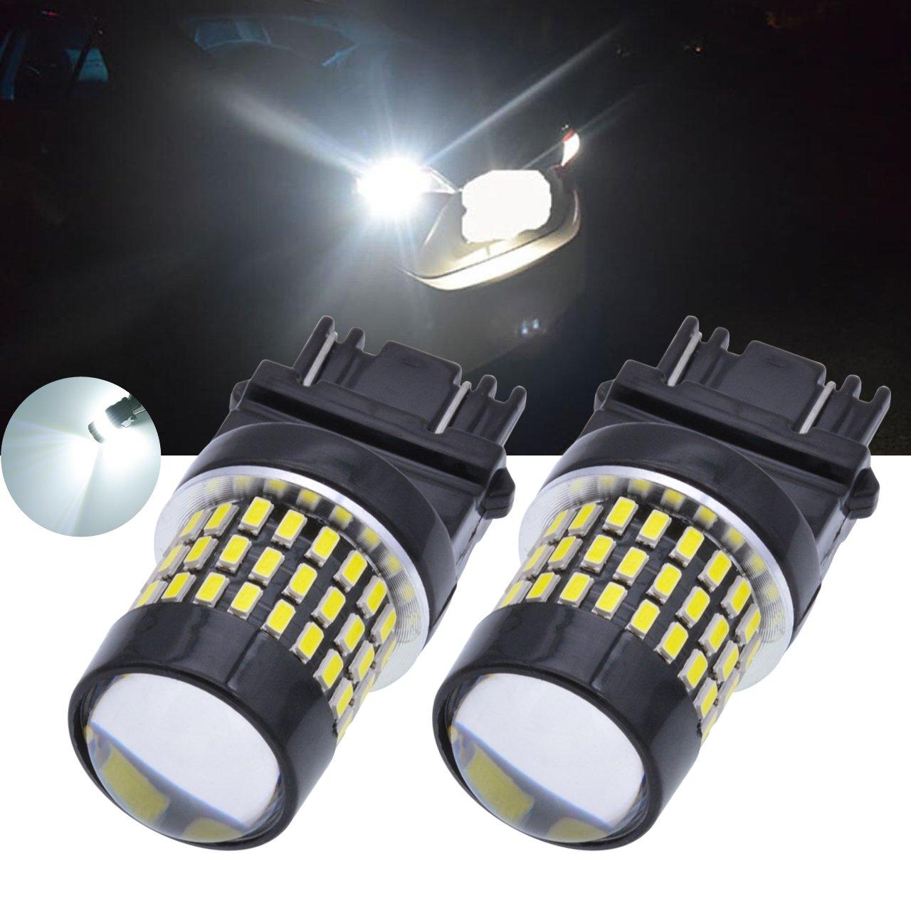 Tuincyn - Lot de 2 ampoules blanches 900 lumens 3047, 3057, 3057A, 3155, 3157, 3157A Base 3014 78smd - Pour ampoule LED de rechange de feu stop DC 12 V-24 V 4 W BHBAZUALIn4988