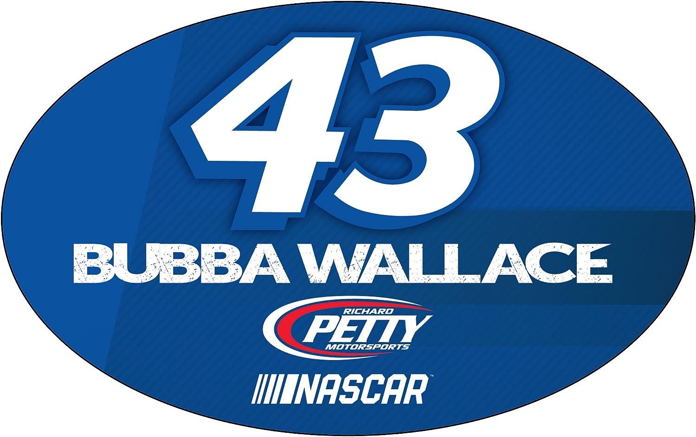 Bubba Wallace #43 NASCAR Oval Magnet