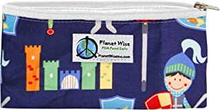 product image for Planet Wise Reusable Zipper Sandwich and Snack Bags, Snack, Good Knight
