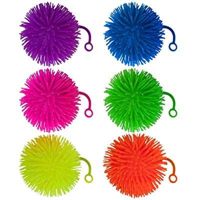 "Set of 6 Jumbo 5"" Light Up Puffer Ball Yo-Yos by Pudgy Pedro's Party Supplies: Toys & Games"