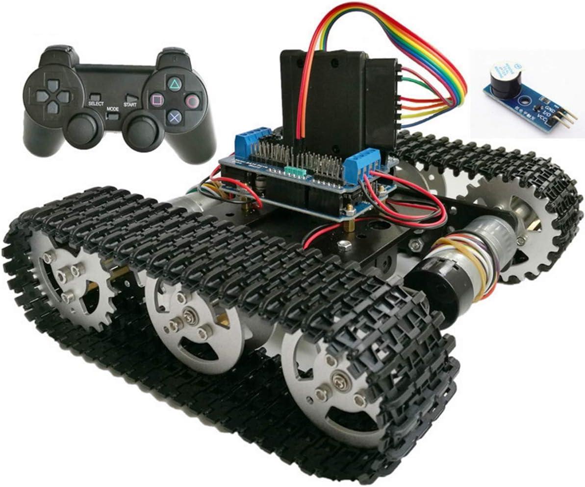 HARLT Control Inalámbrico Programable del Robot Smart Kit RC Robot Kit De PS2 Joystick Tanque del Chasis del Coche con Motor Unor3 Escudo De Bricolaje Juego De Playstation