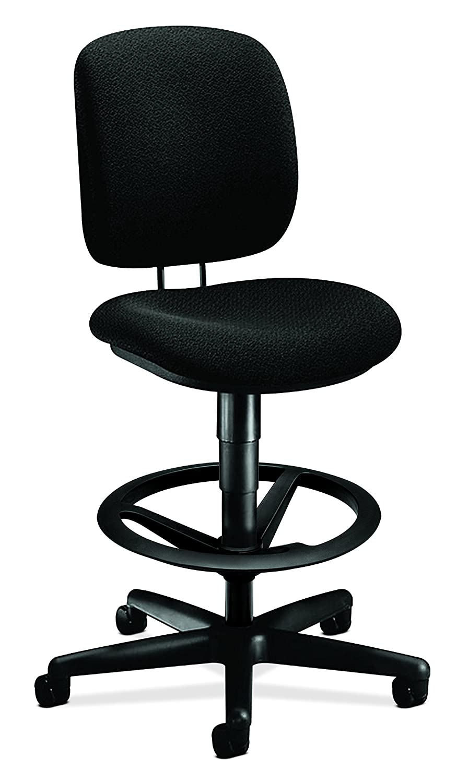 Confetti Black Task Stool HON ComforTask Task Chair - Swivel Computer Chair for Office Desk, Black (H5901)