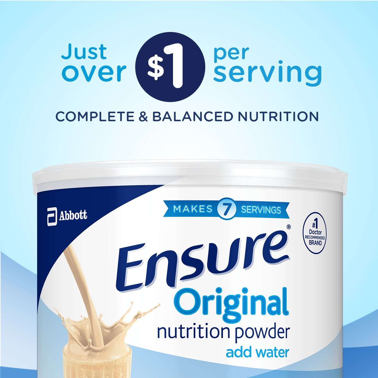 Ensure Original Nutrition Powder with 8 grams of protein, Meal Replacement, Vanilla, 6 count by Ensure (Image #8)