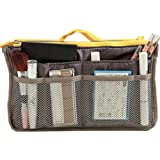 NOV@GO® (version originale qualité assurée) Organiseur/Pochette/sac de rangement intérieur pour grand sac à main ou sac de voyage (divers coloris disponibles) (Gris Jaune)