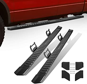"""Fit 15-19 Ford F150 Super Crew Cab 5/"""" Side Step Running Board Nerf Bar BLK A"""