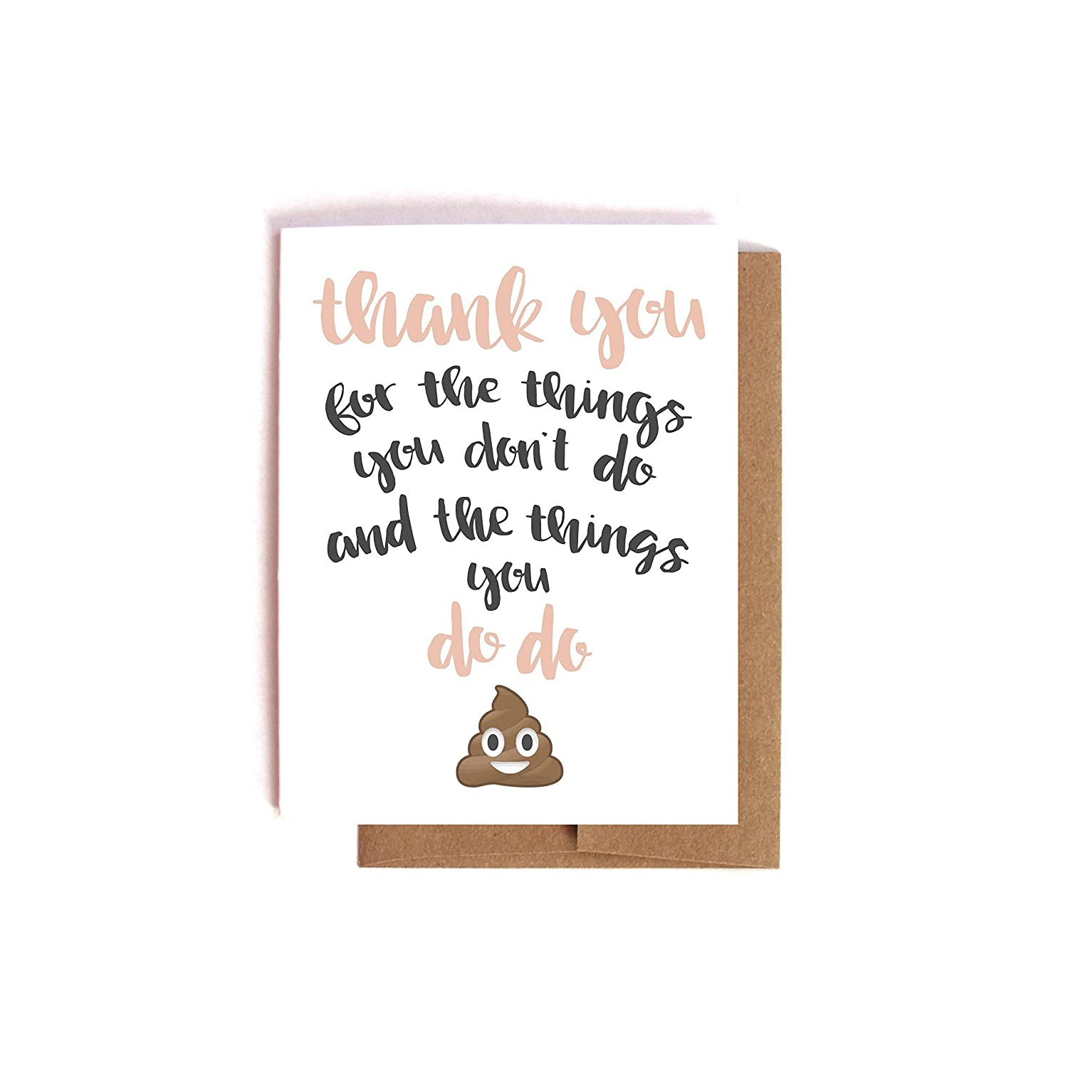 Things You Do Do Poop Emoji Thank You Card