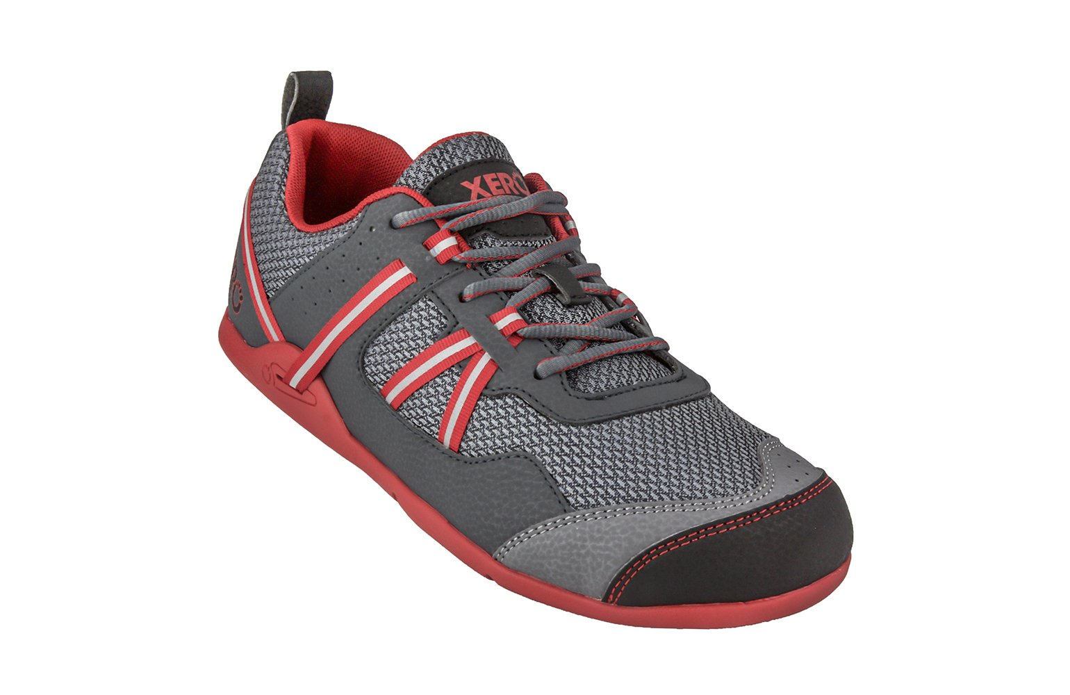 Xero Shoes Prio - Men's Minimalist Barefoot Trail and Road Running Shoe - Fitness, Athletic Zero Drop Sneaker - Charcoal Red by Xero Shoes (Image #1)