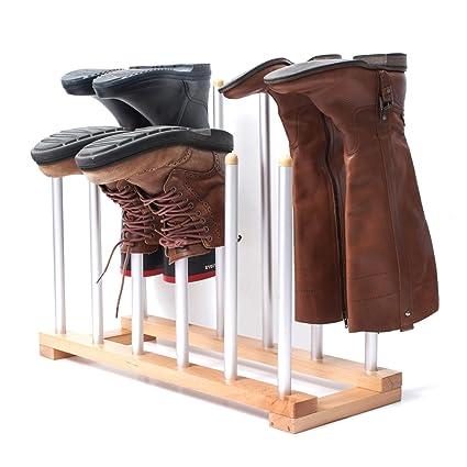 INNOKA 6 Pairs Boot Rack Organizer, Standing Wooden U0026 Aluminum Storage  Holder Hanger For Riding