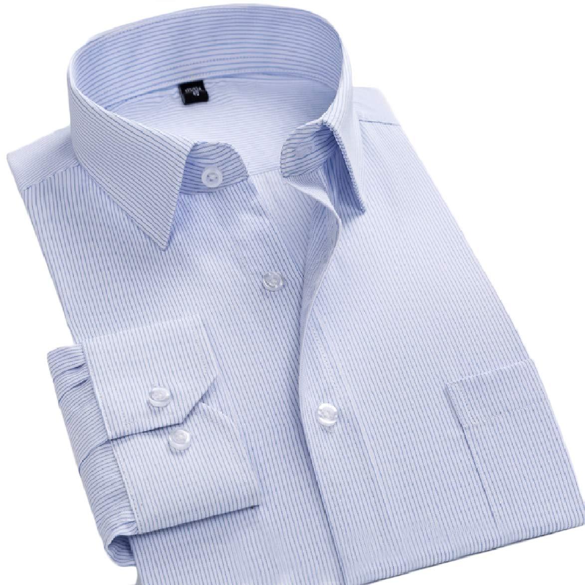 Abetteric Mens Solid Cotton Comfort Business Office Formal Premium Oxford Shirt Pattern13 5XL