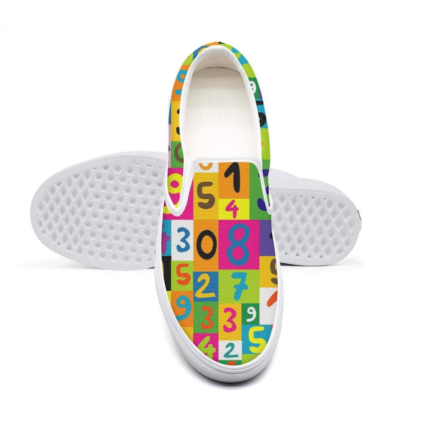 Colorful Math Numbers Seamless Youth Low Cut Stylish Footwear by eredfs
