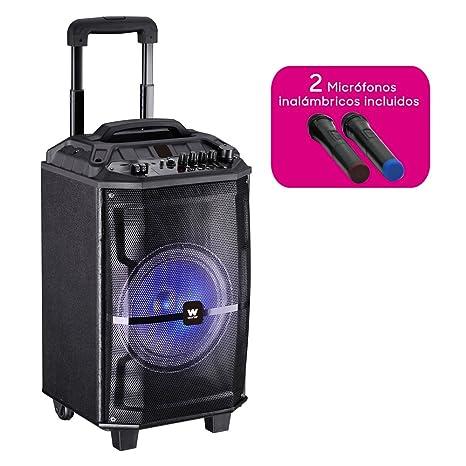 Woxter RocknRoller XL - Altavoz trolley con función karaoke, Potencia de 100W, Display Led, Bluetooth, Lector SD/USB, AUX, Prioridad Mic, ...
