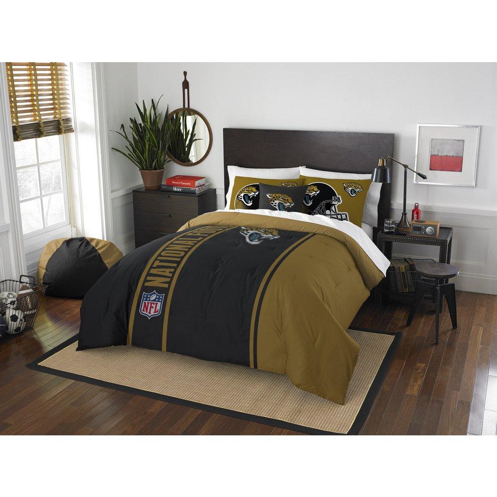 Jacksonville Jaguars Comforter Set Bedding Shams NFL 3 Piece Full Size 1 Comforter 2 Shams Football Linen Applique Bedroom Decor Imported Sold byMBG.4u.