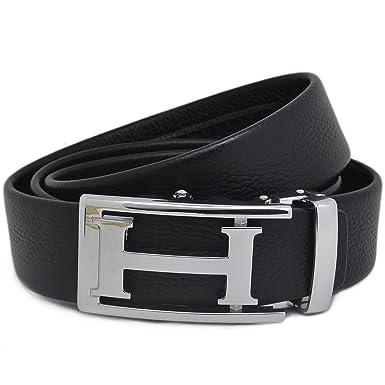 a3b8cec03a6e ipuis Ceinture Cuir Homme noir avec boucle ceinture cuir automatique (120cm)