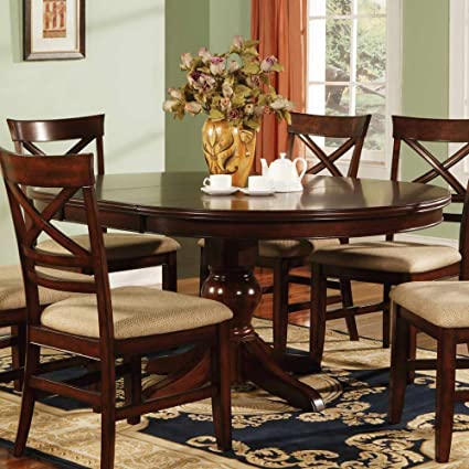 Winners Only Topaz Pedestal Dining Table   Cherry