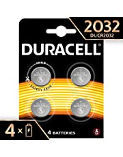 Duracell 2032, Batteria Bottone al Litio 3V, Specialistica Elettronica, Confezione da 4