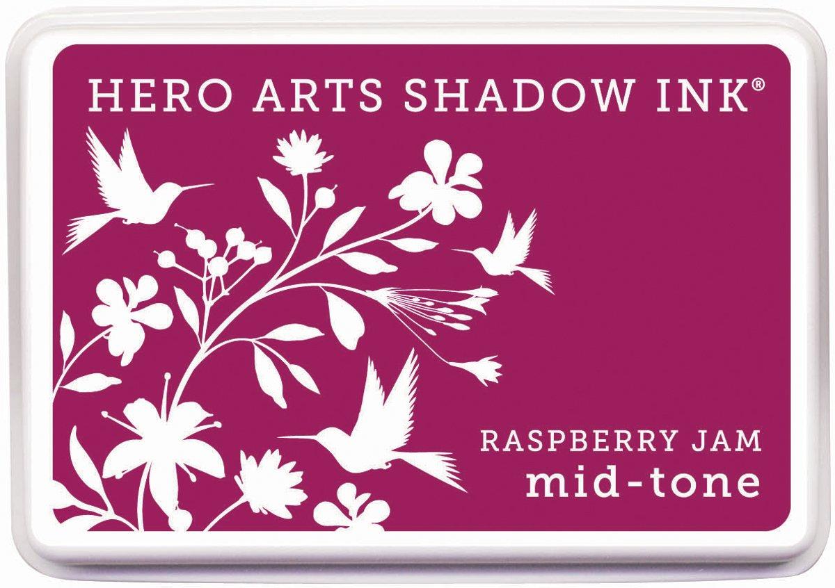 Hero Artsゴムスタンプmid-toneシャドウインクスタンプパッド、ラズベリージャム B008ZHEXP8