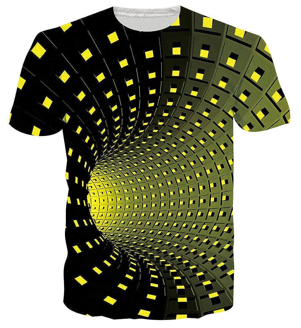 Goodstoworld Unisex T Shirt Stampa 3D Estate Casuale Manica Corta T Shirt Tees S-XXL