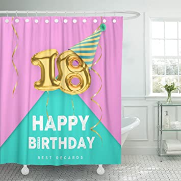 Amazon.com: Breezat Cortina de ducha para niña de 18 años de ...