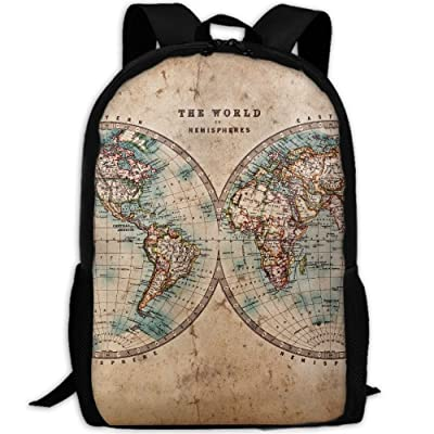 ZQBAAD An Ancient Map Of The World Luxury Print Men And Women's Travel Knapsack